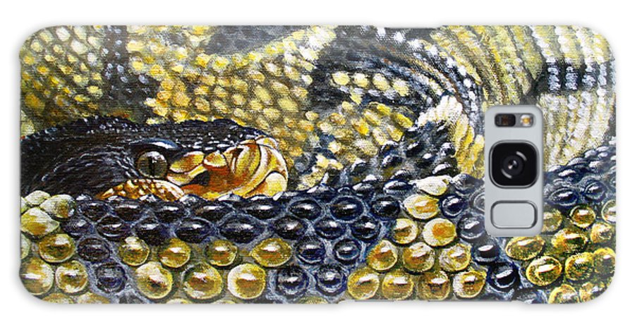 Snake Galaxy Case featuring the painting Deadly Details by Cara Bevan