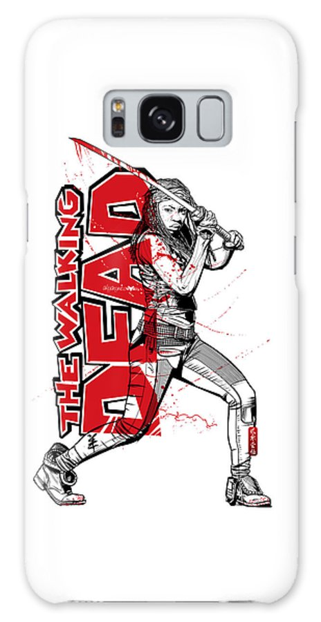 Katana Galaxy S8 Case featuring the digital art Deadly Michonne by Akyanyme