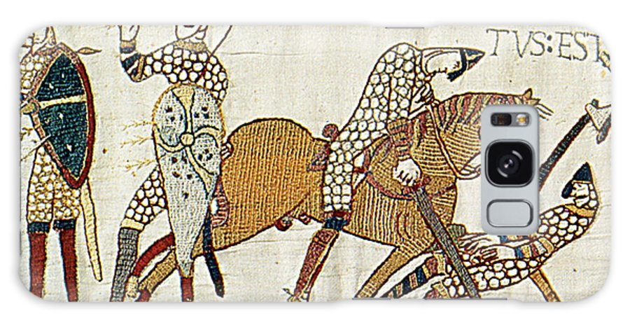 History Galaxy Case featuring the photograph Death Of Harold, Bayeux Tapestry by Photo Researchers