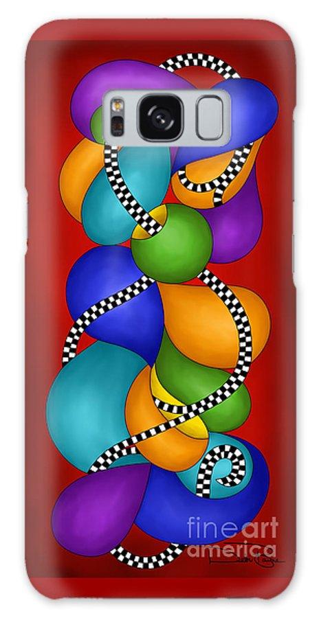 Debi Galaxy S8 Case featuring the digital art Debi's New Brain by Debi Payne