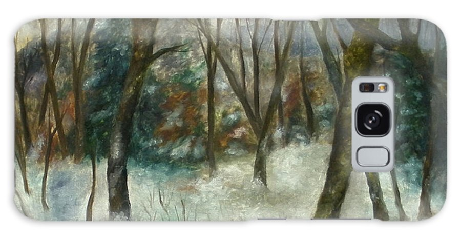 Forest Galaxy S8 Case featuring the painting December On Cooper Hill by FT McKinstry