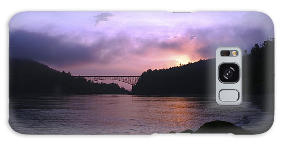 Sunrise Galaxy Case featuring the photograph Deception Pass Sunrise by Idaho Scenic Images Linda Lantzy
