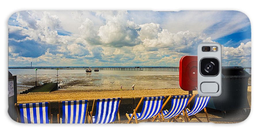 Southend On Sea Galaxy Case featuring the photograph Deck chairs at Southend on Sea by Sheila Smart Fine Art Photography