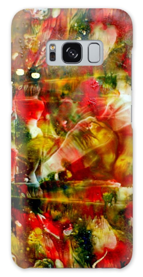Window Galaxy Case featuring the painting Deck The Halls by Susan Kubes