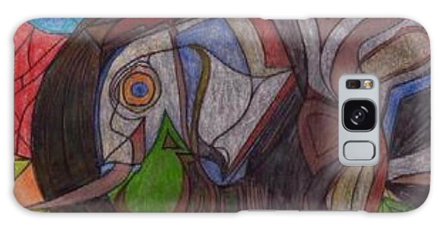 Elefant Galaxy Case featuring the drawing Decorated Elefant by Michael Puya