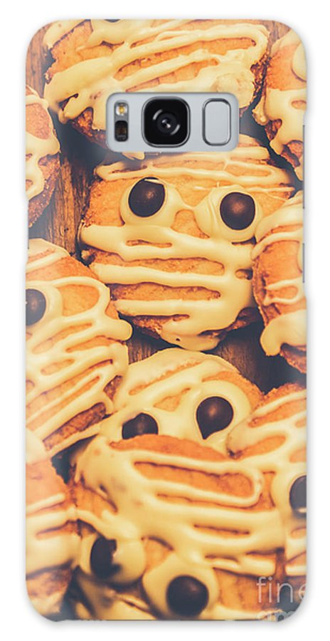Scary Galaxy S8 Case featuring the photograph Decorated Shortbread Mummy Cookies by Jorgo Photography - Wall Art Gallery