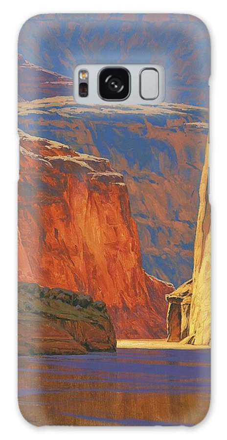 Grand Canyon Galaxy S8 Case featuring the painting Deep In The Canyon by Cody DeLong