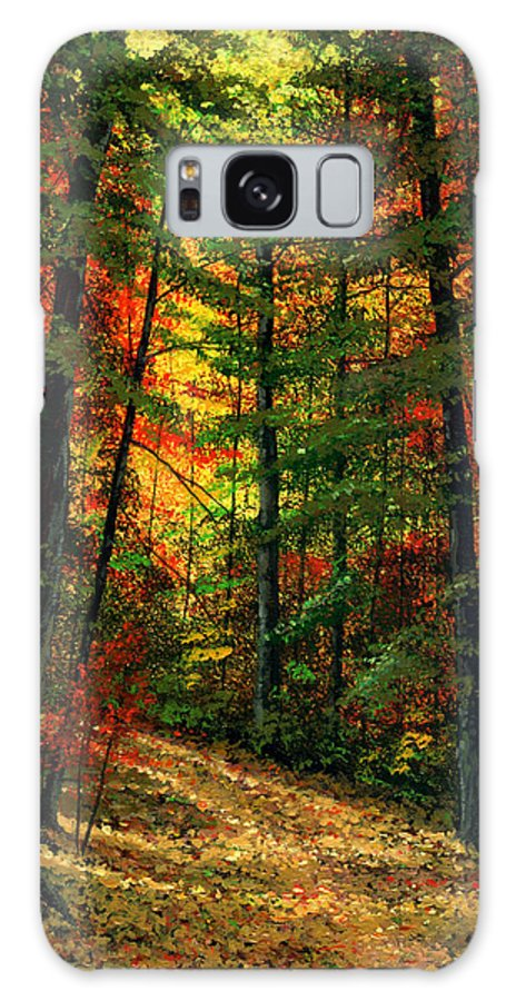 Landscape Galaxy S8 Case featuring the painting Deep In The Forest by Frank Wilson