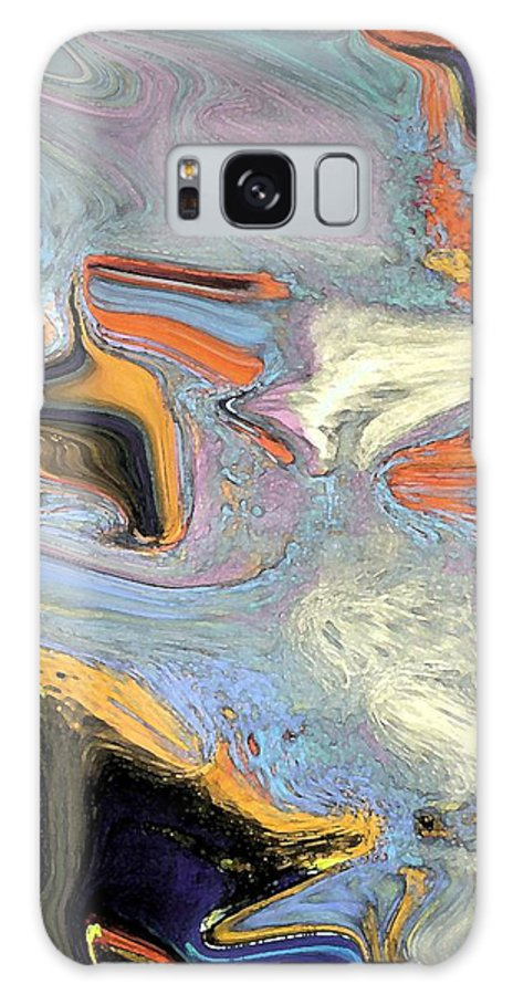 Abstract Galaxy S8 Case featuring the digital art Deep In Thought by Florene Welebny