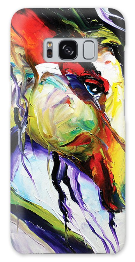 Horse Paintings Galaxy S8 Case featuring the painting Deep Memories by Laurie Pace