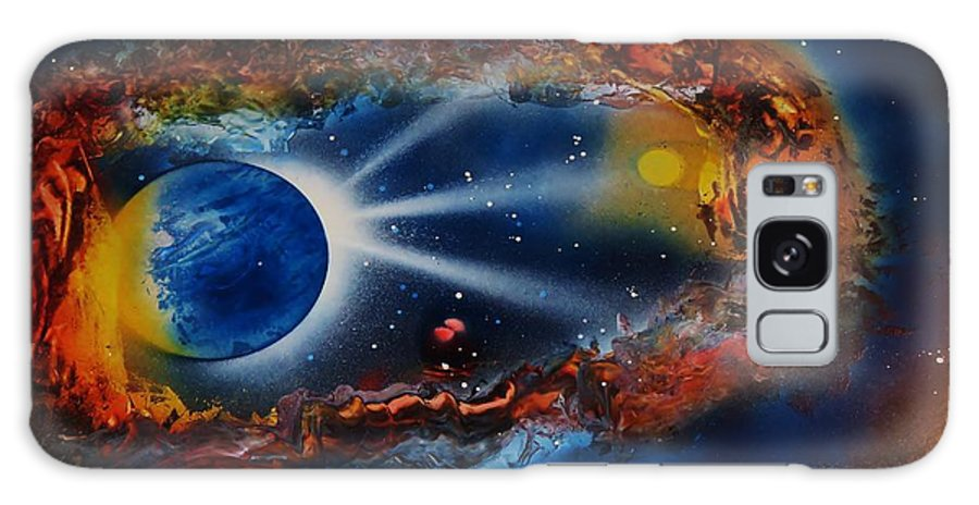 Cavern Galaxy S8 Case featuring the painting Deep Space Cavern by Mario Carta