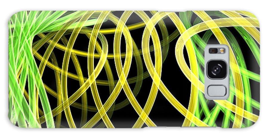 Green Galaxy Case featuring the digital art Deep Trance by Scott Piers