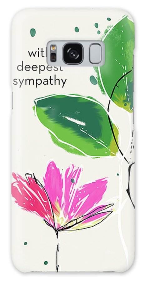 Sympathy Galaxy S8 Case featuring the mixed media Deepest Sympathy Daisy- Art By Linda Woods by Linda Woods