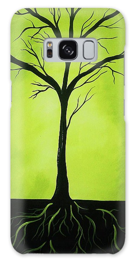 Tree Galaxy S8 Case featuring the painting Deeply Rooted by Katie Slaby