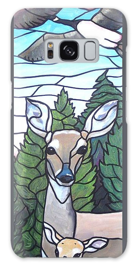 Deer Galaxy S8 Case featuring the painting Deer Scene by Jim Harris