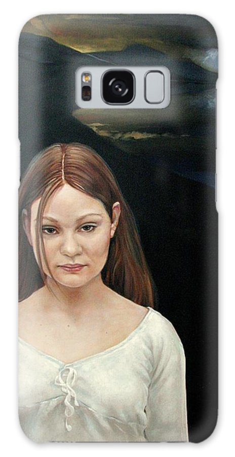 Facial Expressioin Galaxy S8 Case featuring the painting Defiant Girl 2004 by Jerrold Carton