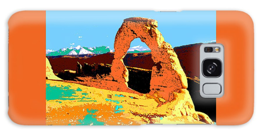Delicate+arch Galaxy S8 Case featuring the painting Delicate Arch Utah - Pop Art by Peter Potter