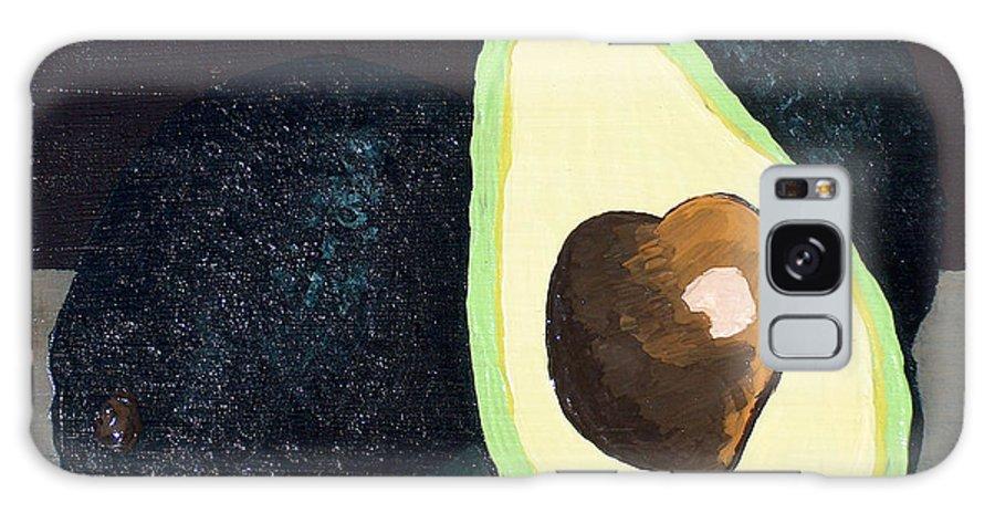 Avocado Galaxy S8 Case featuring the painting Delicious by Racquel Morgan