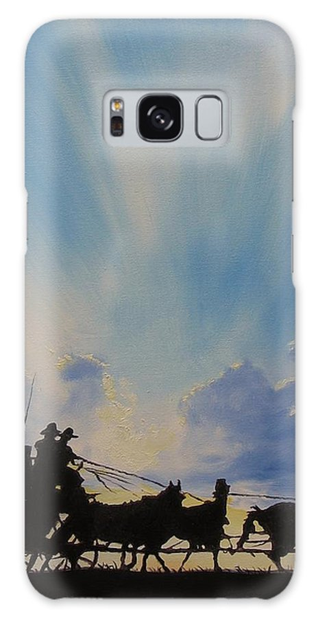 Stagecoach Galaxy S8 Case featuring the painting Deliver Me by Stefon Marc Brown
