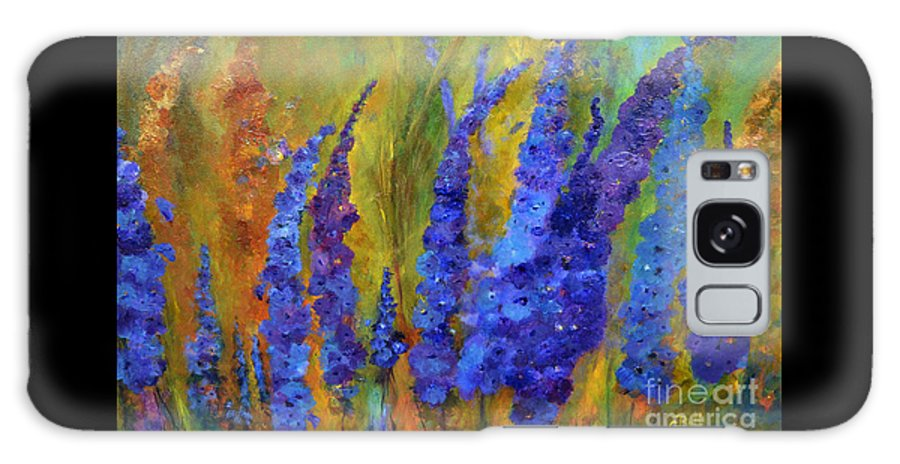 Delphiniums Galaxy S8 Case featuring the painting Delphiniums by Claire Bull