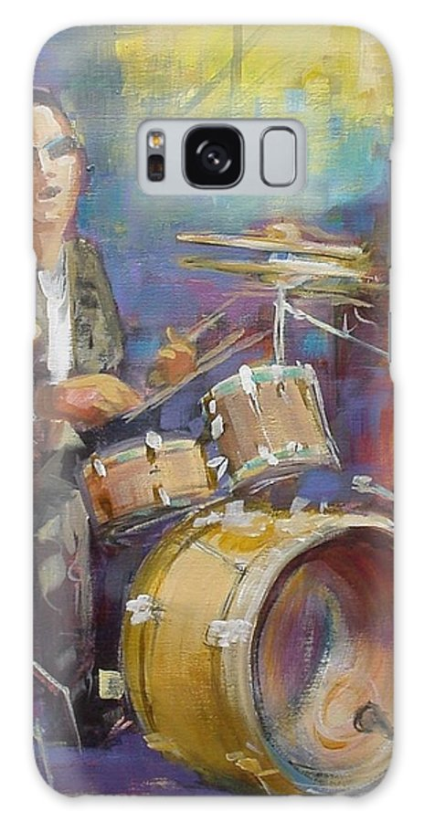 Music Galaxy S8 Case featuring the painting Demon Drummer by Podi Lawrence