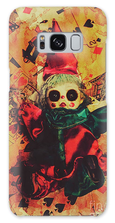 Evil Galaxy Case featuring the photograph Demonic Possessed Joker Doll by Jorgo Photography - Wall Art Gallery
