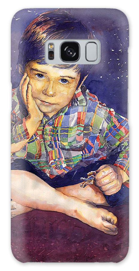 Watercolor Watercolour Portret Figurativ Realism People Commissioned Galaxy S8 Case featuring the painting Denis 01 by Yuriy Shevchuk