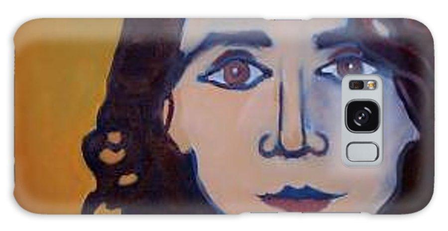 Greek Woman Galaxy Case featuring the painting Denise Closeup by Debra Bretton Robinson