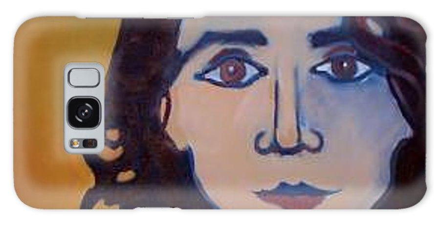 Greek Woman Galaxy S8 Case featuring the painting Denise Closeup by Debra Bretton Robinson