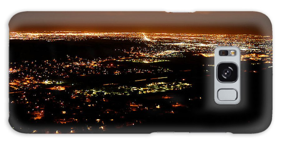 Clay Galaxy S8 Case featuring the photograph Denver Area At Night From Lookout Mountain by Clayton Bruster