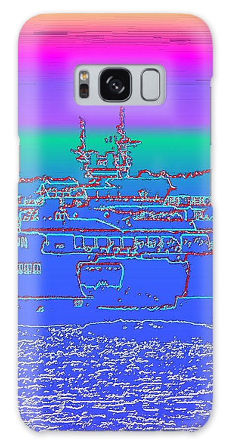 Digital Photo Manipulation Galaxy Case featuring the photograph Departing Ferry by Tim Allen