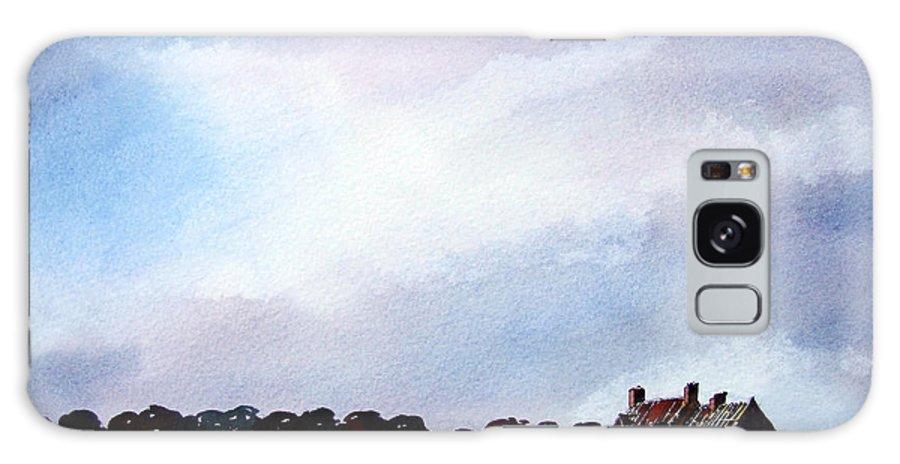Watercolour Galaxy Case featuring the painting Derelict Farmhouse Near Malton by Paul Dene Marlor