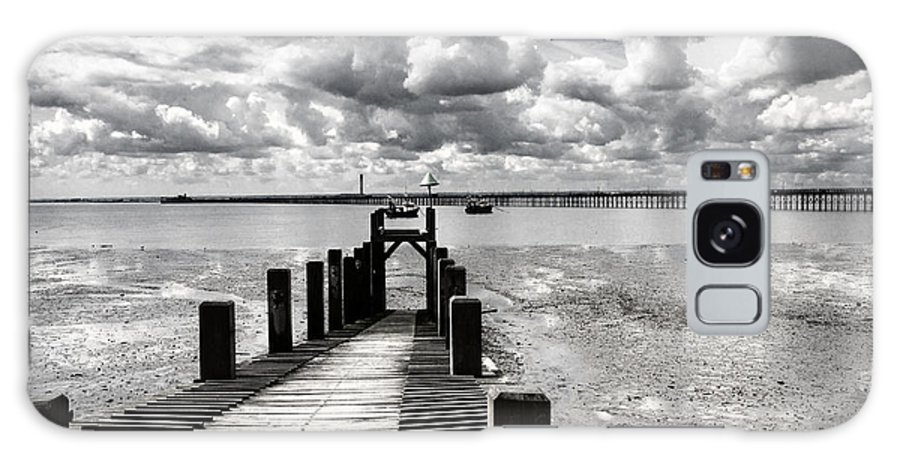 Wharf Southend Essex England Beach Sky Galaxy S8 Case featuring the photograph Derelict Wharf by Sheila Smart Fine Art Photography