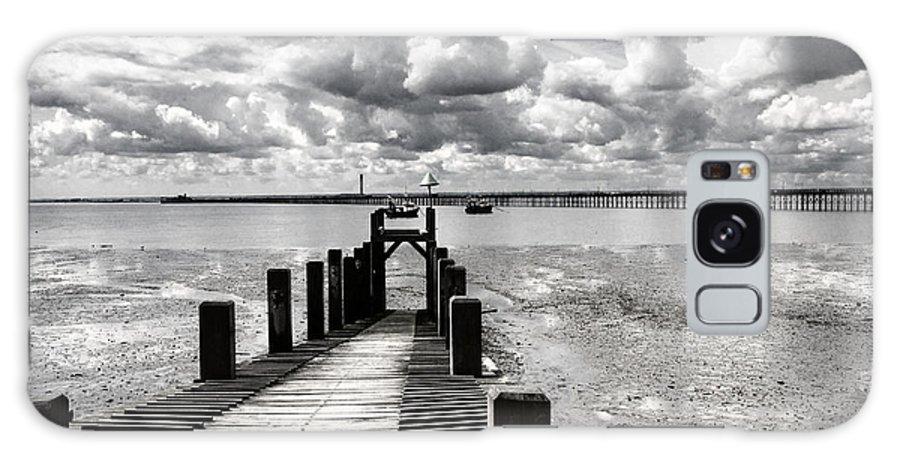 Wharf Southend Essex England Beach Sky Galaxy Case featuring the photograph Derelict Wharf by Sheila Smart Fine Art Photography