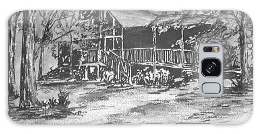 Barn Galaxy S8 Case featuring the painting Derrick by Derek Mccrea