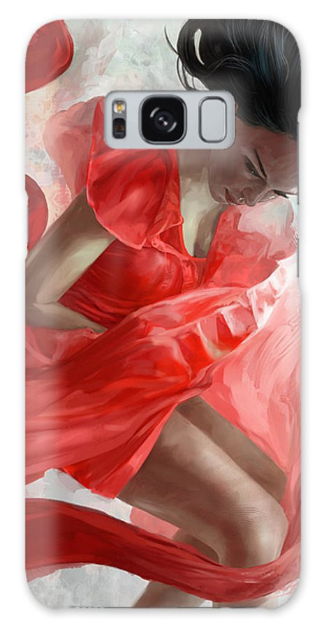 Dancer Galaxy S8 Case featuring the mixed media Descension by Steve Goad