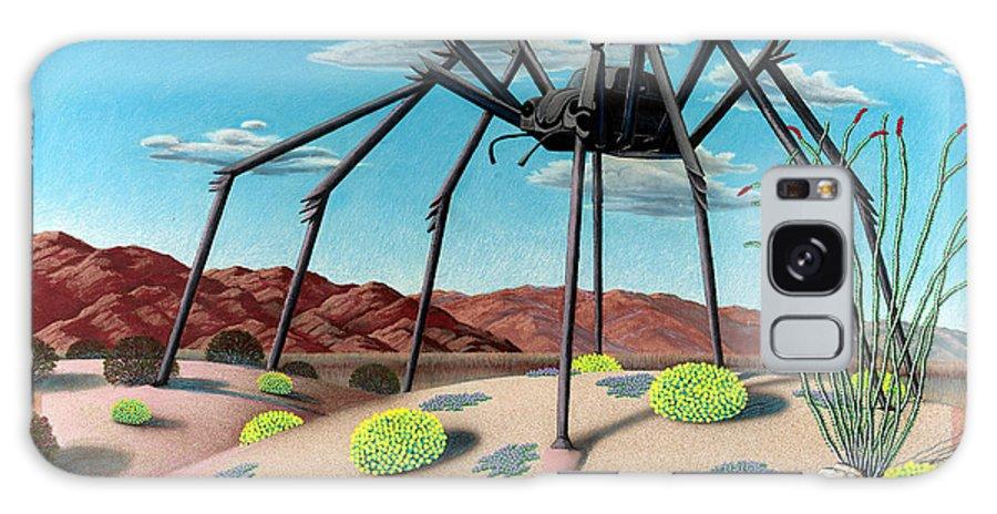 Desert Galaxy Case featuring the painting Desert Bug by Snake Jagger