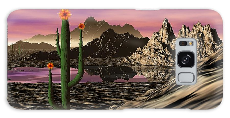 Digital Painting Galaxy S8 Case featuring the digital art Desert Cartoon by David Lane