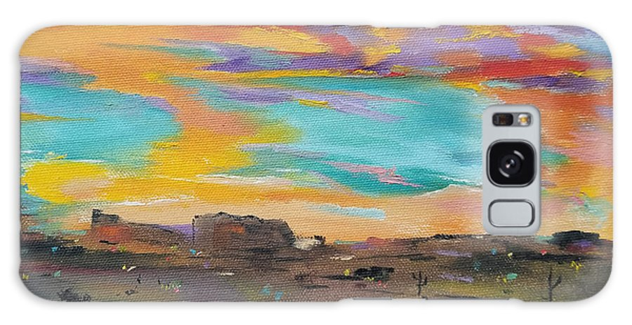 Desert Galaxy S8 Case featuring the painting Desert Finale by Judith Rhue