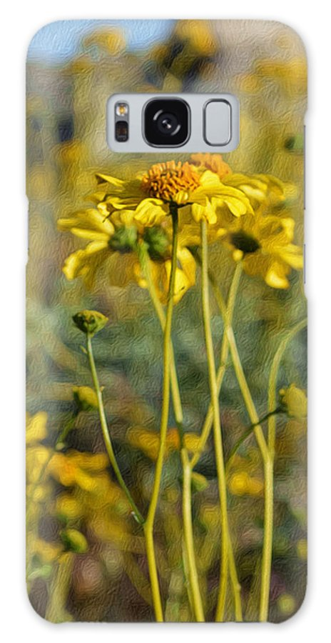 Wild Sunflowers Galaxy Case featuring the digital art Desert Flower Impressions One - Wild Sunflowers by Glenn McCarthy Art and Photography