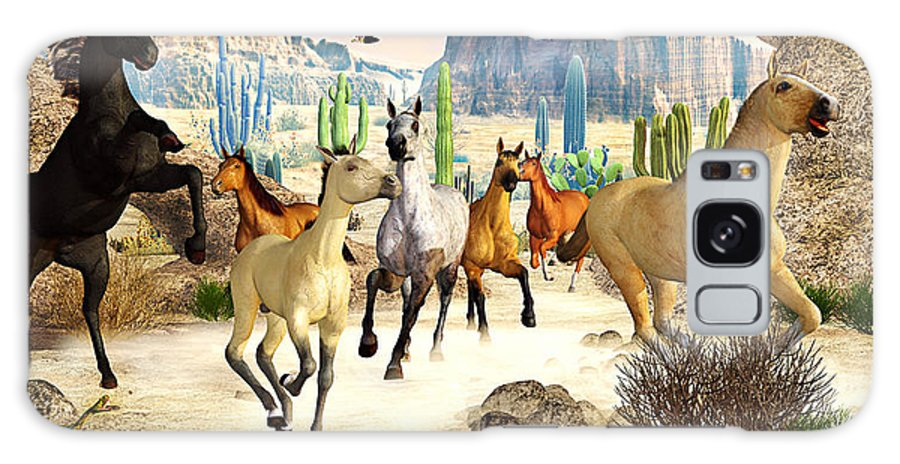 Horses Galaxy S8 Case featuring the photograph Desert Horses by Peter J Sucy