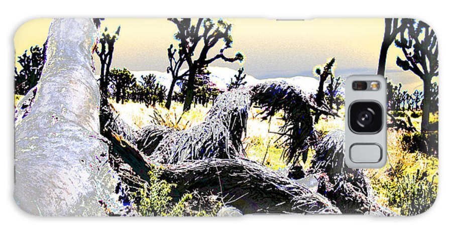 Desert Galaxy Case featuring the photograph Desert Landscape - Joshua Tree National Monment by Ann Tracy