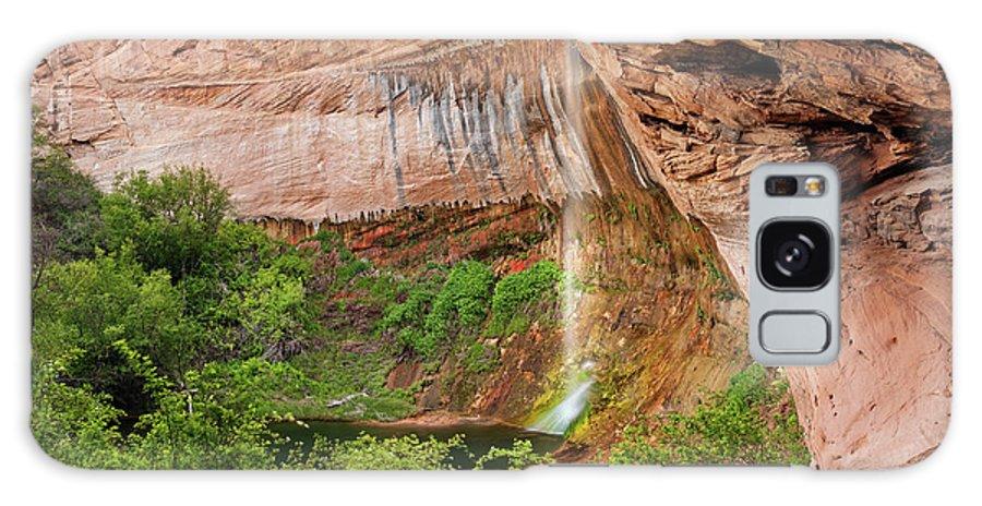 Calf Creek Falls Galaxy S8 Case featuring the photograph Desert Oasis by Leland D Howard