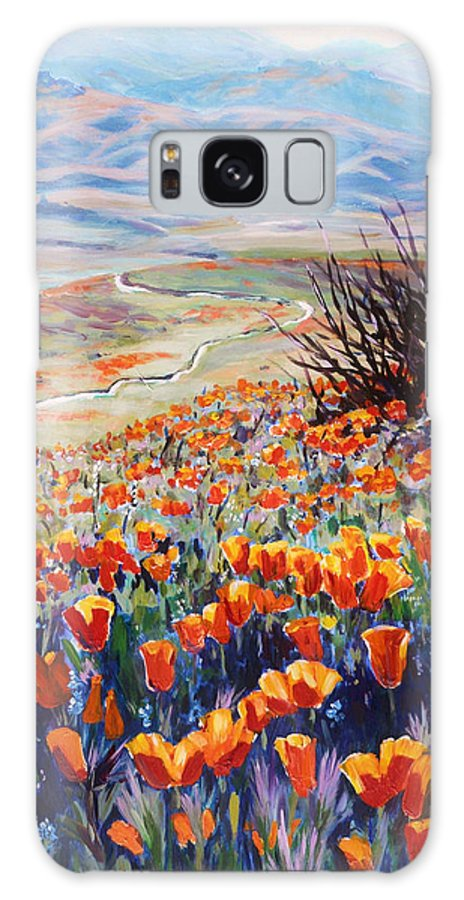 Poppies Galaxy S8 Case featuring the painting Desert Poppies by Margaret Plumb