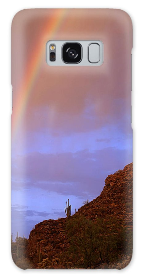 Rainbow Galaxy S8 Case featuring the photograph Desert Rainbow by Jill Reger