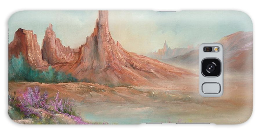 Desert Galaxy S8 Case featuring the painting Desert Spires by Sally Seago