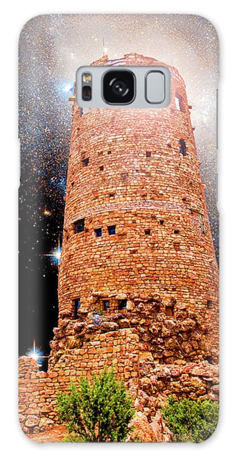Desert View Tower Galaxy S8 Case featuring the photograph Desert View Tower, Starry Night, Grand Canyon by A Gurmankin NASA