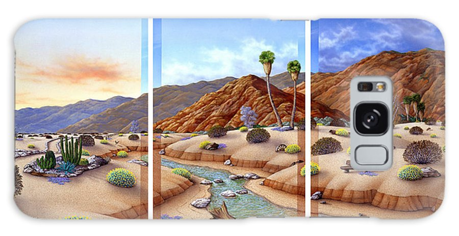 Landscape Galaxy Case featuring the painting Desert Vista by Snake Jagger