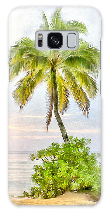 Deserted Galaxy S8 Case featuring the painting Deserted Beach Tioman by Sergey Lukashin