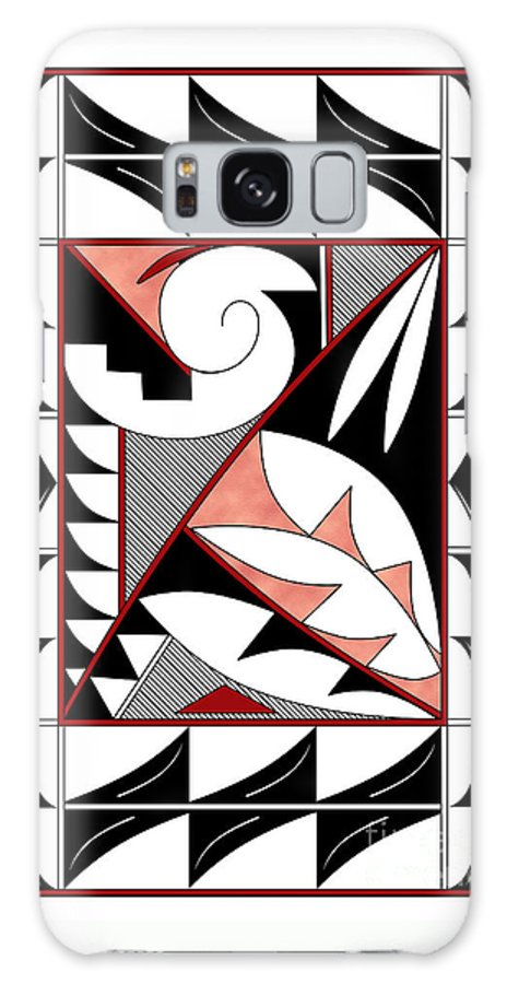 Southwest Galaxy S8 Case featuring the digital art Southwest Collection - Design Four In Red by Tim Hightower